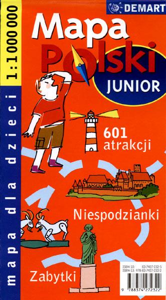 mapa polski junior wyd demart wiek dziecka od 6 lat ocena 3 0 5