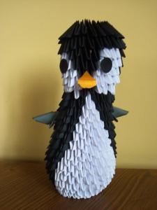 Pingwin z origami modułowego - DIY, Czas Dzieci