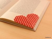 Zakładka do książki w kształcie serca