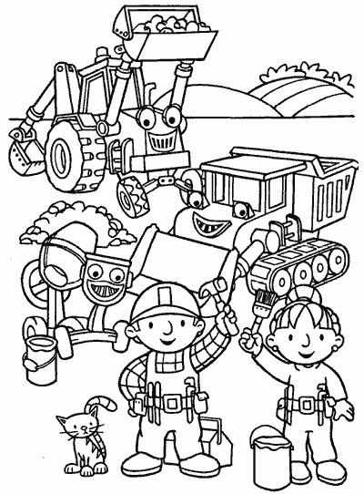 Bob Budowniczy Kolorowanki Czas Dzieci
