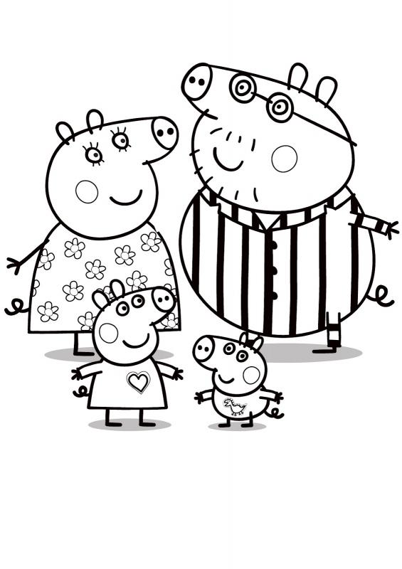 Świnka Peppa Peppa Pig Kolorowanki Czas Dzieci