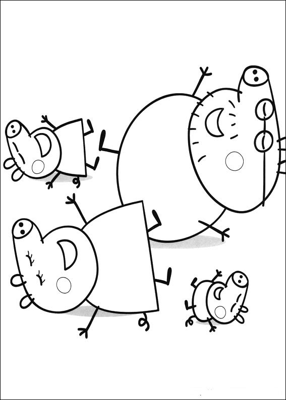 pigs in pajamas coloring pages - photo#18