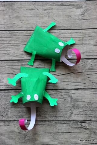 żabka Z Rolki Po Papierze Diy Czas Dzieci