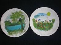 Ręcznie malowane talerze