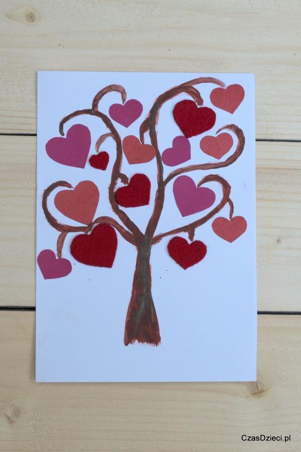 Walentynkowe Drzewo Diy Czas Dzieci