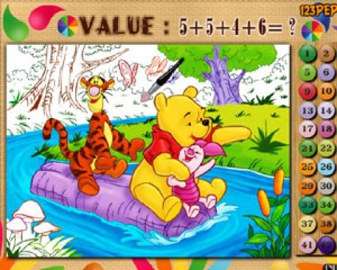 Matematyczna Kolorowanka Z Puchatkiem Gry Dla Dzieci Czas Dzieci