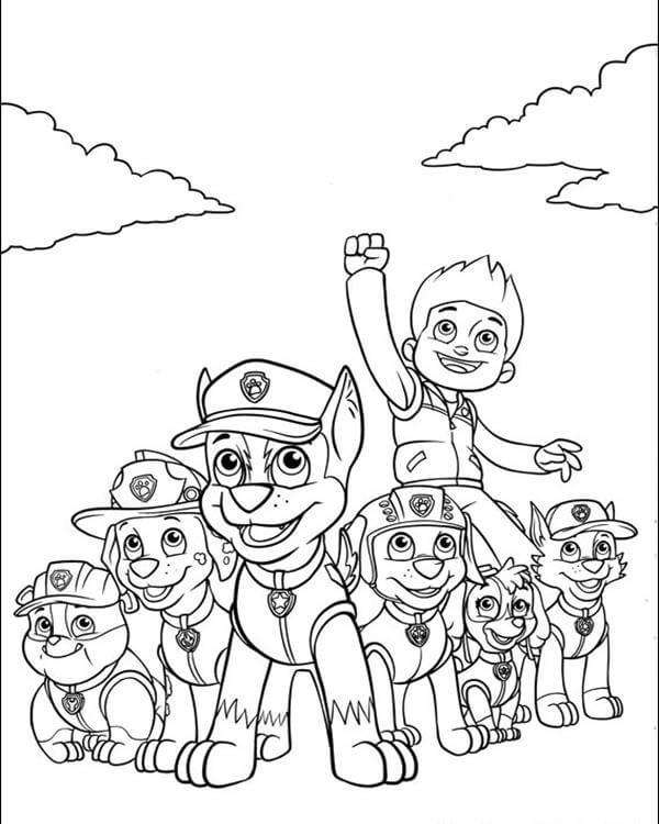 Psi Patrol Kolorowanki Czas Dzieci