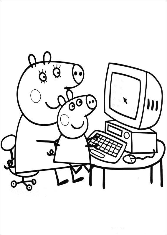Swinka Peppa Peppa Pig Kolorowanki Czas Dzieci