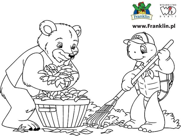 Zolw Franklin Kolorowanki Czas Dzieci